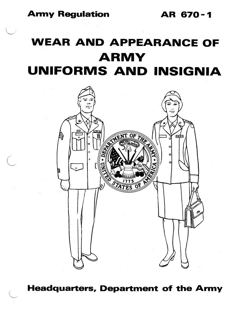 Ar670 1 Uniformwear 19811101part1 Officer Armed Forces