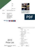 2010 Provisional Price List