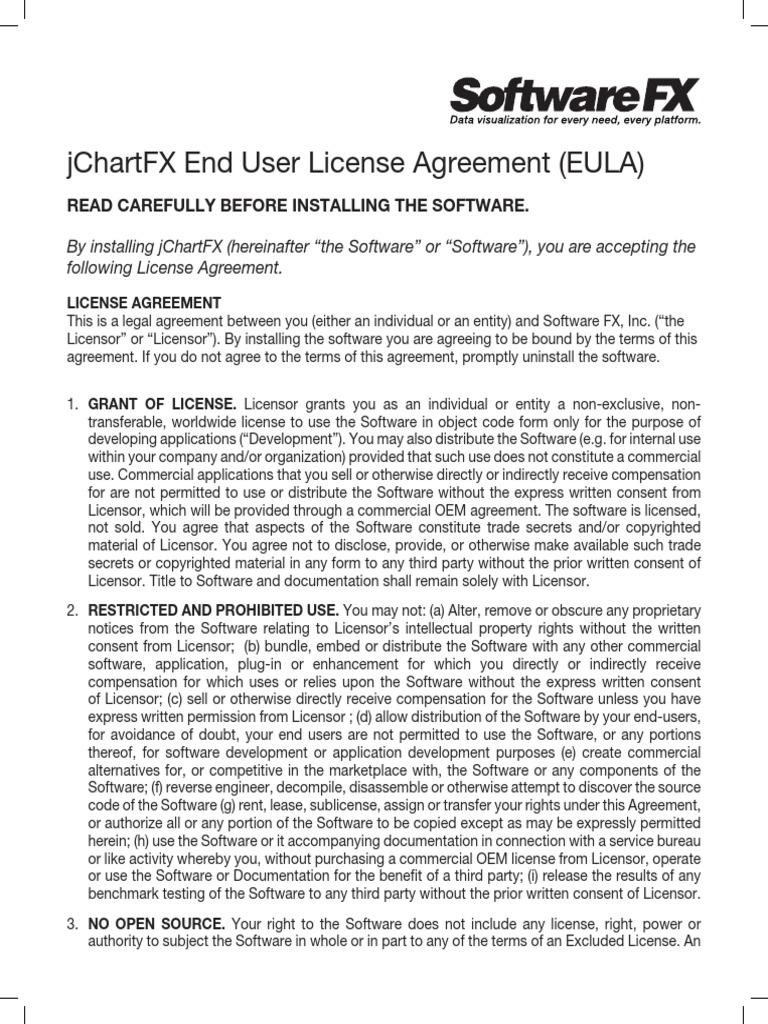 Licenseagreement jchartfx license proprietary software platinumwayz