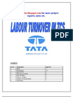 Labour Turnover in TCS Project report