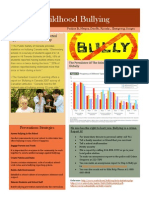 Childhood Bullying Flyer