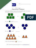 Subtraction Problems Shapes