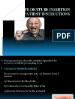 77328628 Complete Denture Insertion and Patient Instructions