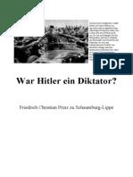 Schaumburg LippeFriedrichChristianPrinzZu WarHitlerEinDiktator196051S.text