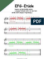 CDEFG-Etüde 1 - Klavier, solo - easy piano, sehr leicht (Anfänger)