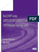 Benq Mp515 Mp515 Mp525st Mp525 Mp525p Mpp575 Dlp Projector Training Manual
