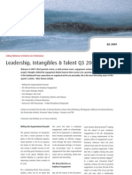 Leadership, Intangibles & Talent Q3 2009 - Four Groups