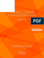 EasyJet Plc Fleet Plans
