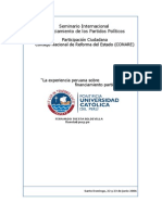 2006 Seminario Financiamiento de Partidos. Santo Domingo