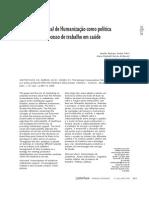 Artigo - Política Nacional de Humanização e o Trabalho Em Saúde