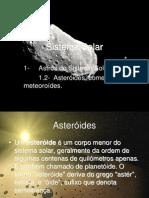 Sistema Solar - Asteróides, cometas e meteroróides