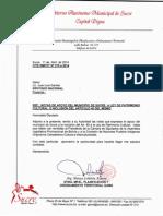 Cartas Apoyo Municipio de Sucre Ley General de Patrimonio