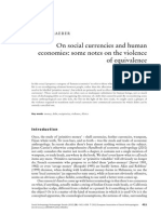 GRAEBER, David - On Social Currencies and Human Economies - Some Notes of the Violence of Equivalence