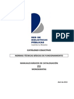 Catalogacin de Monografias v.2013