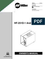 Miller HF-251D-1 & HF-251-2 owners manual