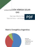 Calefacción Híbrida Solar-gas
