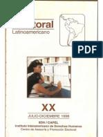 1998 CAPEL Boletin Electoral XX. Elecciones Municipales