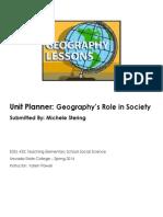 EDEL453 Spring2014 MicheleSTERING Unit Plan Planner