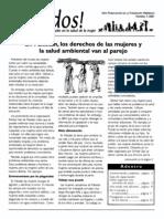 Mujeres y Salud Ambiental. Saludos Revista de Educacion para la salud.