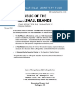 Republic of the Marshall Islands Article IV Consulation 2013