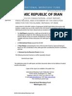Islamic Republic of Iran 2014 Article IV Consultation