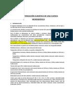 CARACTERIZACI+ôN CLIM+üTICA DE UNA CUENCA HIDROGR+üFICA