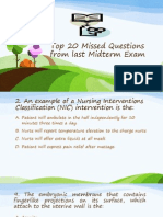 Top 20 Missed Questions From Last Midterm Exam Oct 2013