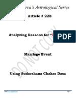 Article # 22B -- Analyzing Reasons for Delayed Marriage Event Using Sudarshana Chakra Dasa