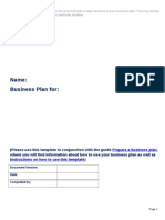 Business Plan Template v8.4