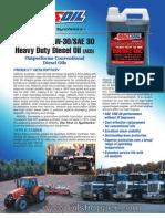 Synthetic 10W-30/SAE 30 Heavy Duty Diesel Oil (ACD)
