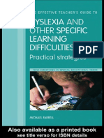 Dislexia and Other Specific Learning Difficulties