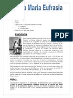 Santa Maria Eufrasia Word_ Mariana