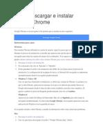 Cómo Descargar e Instalar Google Chrome