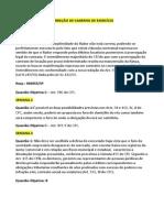 Correção Exrcícios de Processo Civil IV-01 á 13