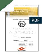 Estudio de Prefactibilidad Para La Instalacion de Una Planta de Industrializacion de Tara 2009 (1)
