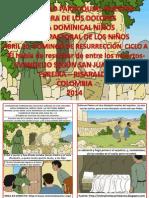 HOJITA EVANGELIO DOMINGO DE RESURRECCIÓN CICLO A SERIE