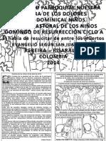 HOJITA EVANGELIO DOMINGO DE RESURRECCIÓN CICLO A BN