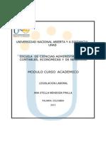 Modulo de Legislacion Laboral