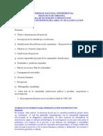 FORMATO PROYECTO DE SERV COMUNITARIO