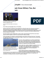 China and US Seek Closer Military Ties, But Differences Remain