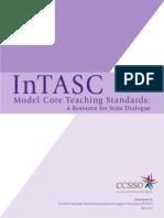 intasc model core teaching standards 2011-2