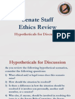 Senate Staff Ethics Review