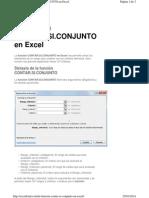 Función Contar.si.Conjunto en Excel