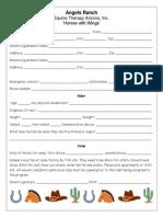 summer camp registeration form