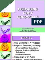 Preparing Cost Proposals
