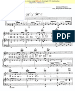 7481675 Enya Only Time Piano Partitura Sheet Music Noten Partition Spartiti