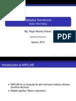 Datos en Matlab Mn Ie Remch