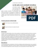 O Que é Um Plano de Aula Com Unidade Temática _ EHow Brasil