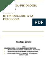 6- Introduccion a La Fisiologia