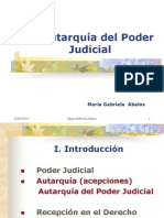 María Gabriela Abalos -- Autarquía del Poder Judicial.ppt